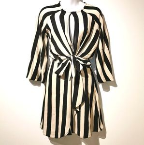 Top shop size small long sleeve striped dress